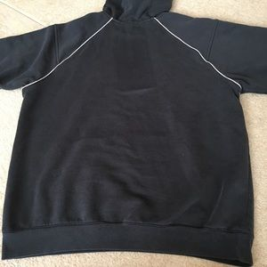 adidas Black Hoodie with3 Stripes down Arms L